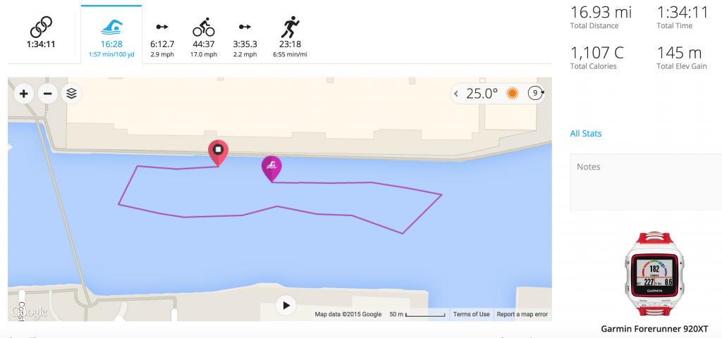 London Triathlon - Swim Map
