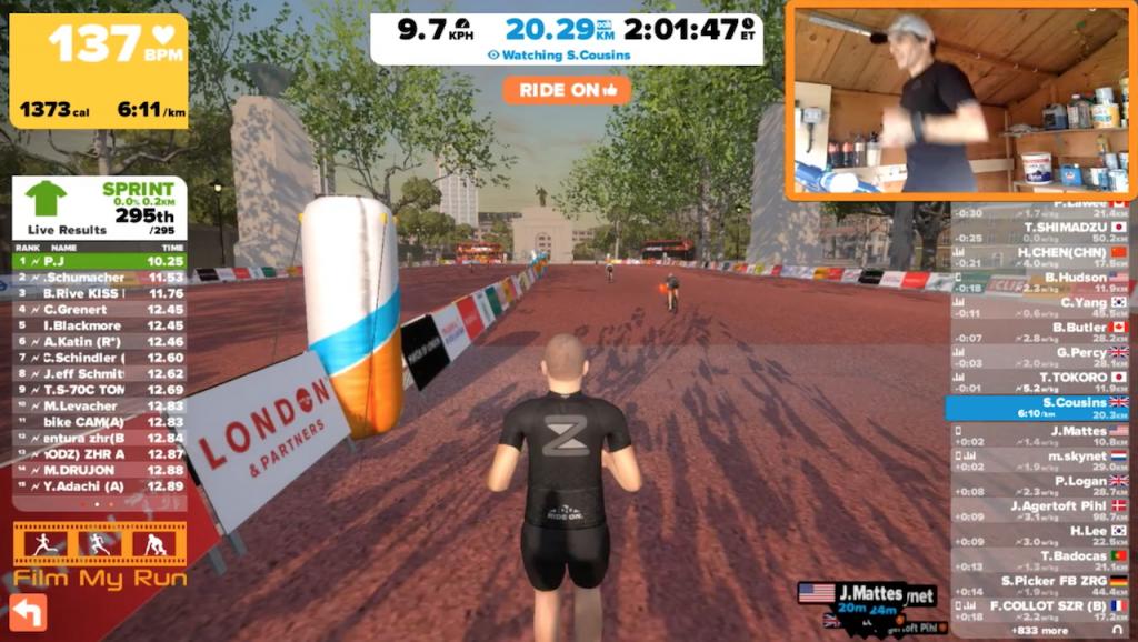 Zwift Running First Marathon