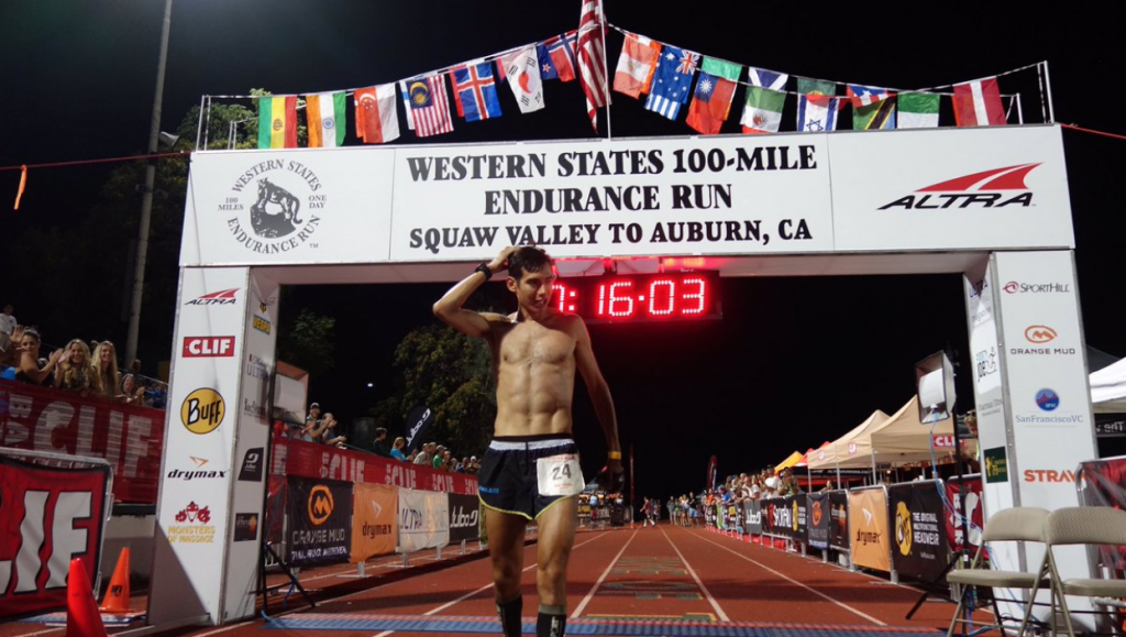Sage Canaday finishing Western States 100